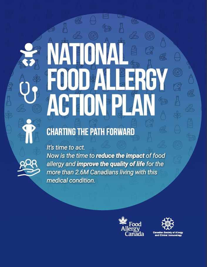 National Food Allergy Action Plan cover